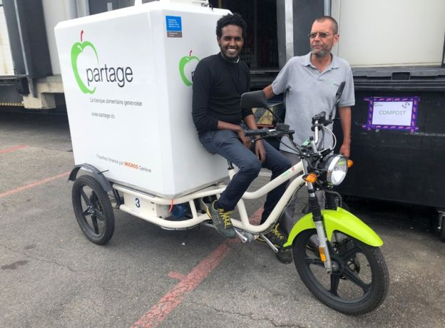 Geneva-based company Partage is helping tackle waste by taking in unsold food