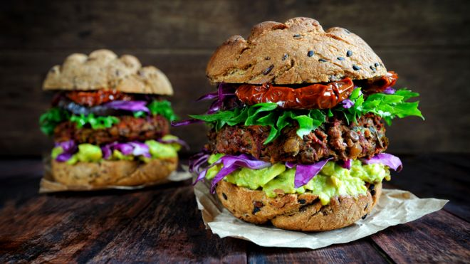 Vegan burgers are now a fixture on many restaurant menus GETTY IMAGES