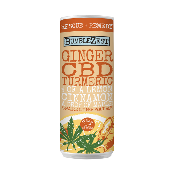 Ginger Turmeric Cbd Sparkling Water Bumblezest