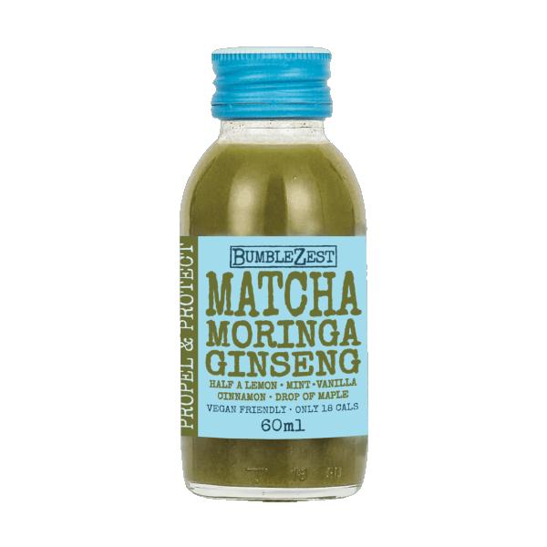 Matcha Moringa Ginseng Health Shot Bumblezest