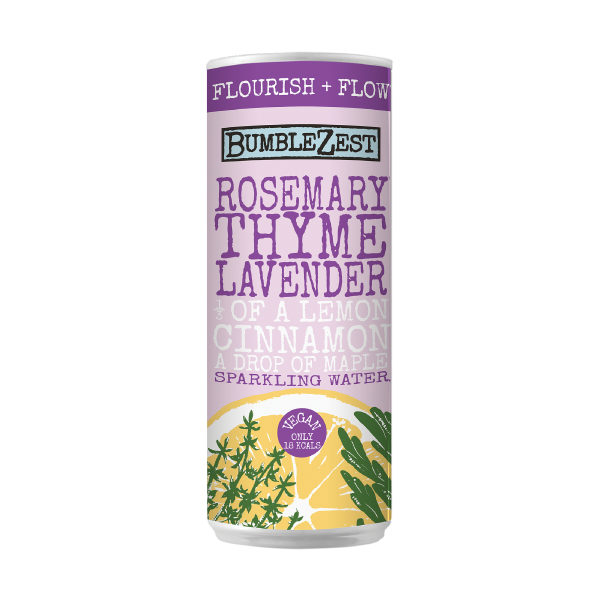 Rosemary Thyme Lavender Sparkling Water Bumblezest