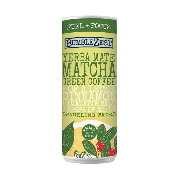 Yerba Mate Matcha Green Coffee Bean Sparkling Water Bumblezest